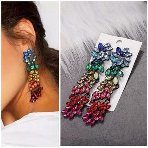 Jewelry - LAST PAIR! Multi Colored Statement Earrings